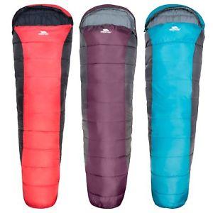 【送料無料】キャンプ用品 ミイラ2trespass siesta adults 2 season camping mummy shape sleeping bag