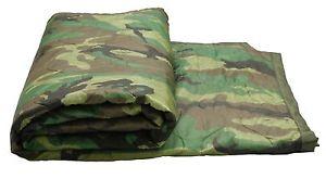 【送料無料】キャンプ用品 オリジナルgiアメリカカモフラージュポンチョライナー original gi usa camouflage poncho liner military unissued surplus blanket