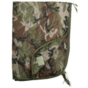【送料無料】キャンプ用品 ポンチョライナーキルトパッドマットフランスripstop poncho liner travel sleeping bag quilted padded mat french army cce camo