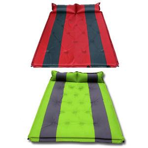 【送料無料】キャンプ用品 ポータブルダブルキャンプキャンプマットマットレスグリーンレッドportable double self inflating camping camp sleeping mat mattress green red