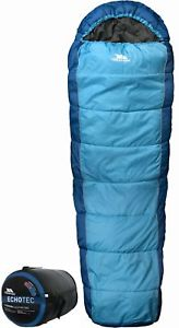 【送料無料】キャンプ用品 4シーズンechotecミイラhollowfibre bltrespass echotec adults 4 season single sleeping mummy shape warm hollowfibre bl