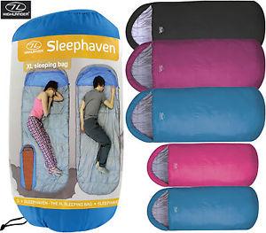 【送料無料】キャンプ用品 キャンプxlsleephavhighlander adult sleeping bag travel camping kids festival xl large big sleephav