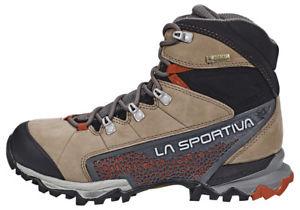 【送料無料】キャンプ用品 ベージュレッドla sportiva nucleo gtx shoes women beigered rrp19299 uk 75 eu 415 js49 82