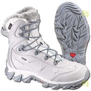 【送料無料】キャンプ用品 サロモンレディーストレッキングシューズホワイトsalomon ladies trekking shoes winter shoes nytro gtx w white