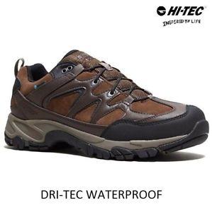 【送料無料】キャンプ用品 メンズハイテックレザーハイキングウォーキングトレッキングブーツトレーナーサイズmens hi tec leather waterproof hiking walking trek boots trainers shoes size uk