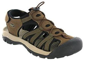 【送料無料】キャンプ用品 メンズブラウンスポーツサンダルサンダルpdq mens brown closed toe walking sports sandal sandals m9541b
