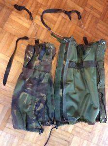 【送料無料】キャンプ用品 イギリスブーツロングウォーキングハイキングbritish army military gaiters gs long 1997 walking hiking