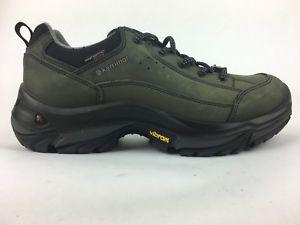 【送料無料】キャンプ用品 メンズブレコンローウォーキングハイキングmens karrimor brecon low walking hiking charcoal leather weathertite shoes uk 8