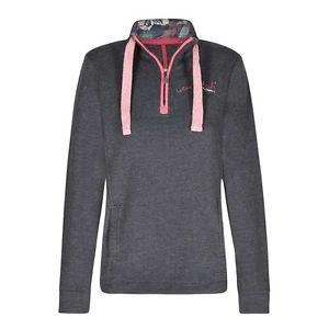 【送料無料】キャンプ用品 プリントライニングスエットシャツネイビーweird fish womens bina zip print lined sweatshirt navy