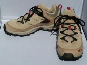 【送料無料】キャンプ用品 ウォーキングハイキングブーツスエードベージュ listingsalomon walking hiking boots shoes uk 7 suede beige sensifit ortholite contagrip
