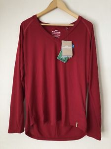 【送料無料】キャンプ用品 トップクラレットサイズロングスリーブkathmandu tonaca womens buzzguard hooded top claret size 18 red long sleeve