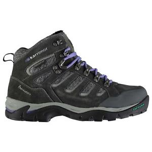 【送料無料】キャンプ用品 マウントウォーキングブーツレディースパッドkarrimor mount walking boots ladies laces fastened padded ankle collar
