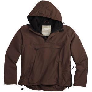 【送料無料】キャンプ用品 ウィンドブレーカーフードジャケットフリースライニングブラウン