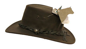【送料無料】キャンプ用品 オーストラリアブッシュハットjacaru highlander genuine australian leather bush hat