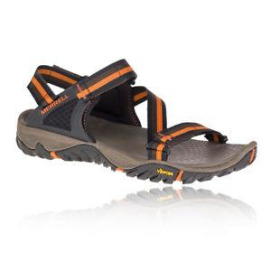 【送料無料】キャンプ用品 メンズオレンジブラックウォーキングハイキングサンダル