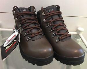 【送料無料】キャンプ用品 メンズフルレザーブラウンウォーキングトレッキングサイズブーツmen's waterproof full leather lightweight brown walking trekking boots size 9 uk