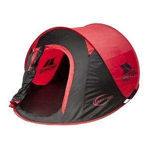 【送料無料】キャンプ用品 トレスパスポップアップキャンピングフェスティバルテントtrespass swift 200 2 person red waterproof pop up tent for camping festival