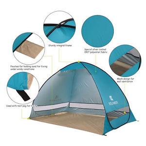 【送料無料】キャンプ用品 uvサンテントポップuv protection camping fishing garden large pop up sun shelter beach tent