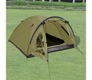【送料無料】キャンプ用品 キャンプテントアーミーグリーンメッシュドア3 man camping tent army green one room with mosquito mesh door