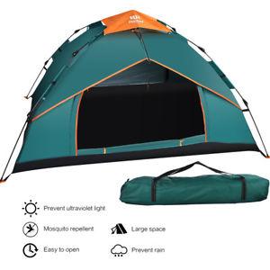 【送料無料】キャンプ用品 ポップテントインスタントキャンプテントシェルターダブル34 personsman pop up tent double layer instant auto large camping tent shelter