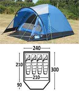 【送料無料】キャンプ用品 ブライトンキャンプテントkampa brighton 4 berth person man festival camping tent
