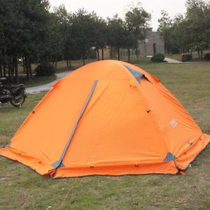 【送料無料】キャンプ用品 ポータブルキャンプオレンジテントportable folding tent lightweight waterproof for 2 persons camping travel orange