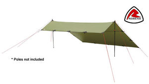 【送料無料】キャンプ用品 robens green trail tarp 3×3mテントrobens green trail tarp 3 x 3 m poles not included lightweight, bivvy, bivouac