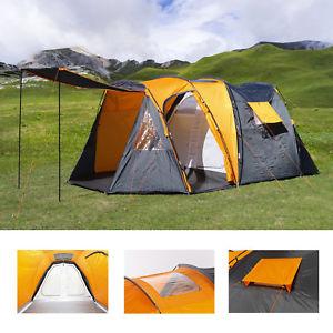 【送料無料】キャンプ用品 4フェスティバルドームテントトンネルサンlarge 4 man beach camping festival fishing garden dome tent tunnel sun shelter