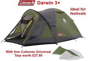 【送料無料】キャンプ用品 2795freeコールマンコールマンダーウィン3coleman darwin 3 with free coleman universal tarp worth 2795