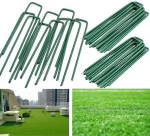 【送料無料】キャンプ用品 50 x green u shape pins for artificial grassturf galvanised tent ground pegs50 x green u shape pins for artificial grass t
