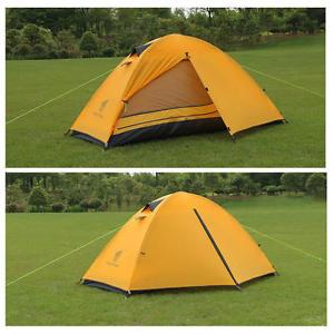 【送料無料】キャンプ用品 バックパッキングテント  3シーズン1テントキャンプyellow 18kg