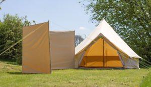 【送料無料】キャンプ用品 100キャンバスガイテントスチールストック100 cotton canvas windbreak only steel poles with guys bell tent windbreak