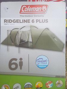 【送料無料】キャンプ用品 コールマン6テント  coleman ridgeline 6 tent colour green