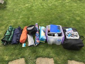 【送料無料】キャンプ用品 6テントベッドsuncamp6グリルセットアップキャンプsuncamp tourist 6 plus 6 berth tent beds grill cutlery pans etc camping set up