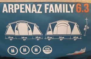 【送料無料】キャンプ用品 quechua arpenaz 63family camping tent6マンquechua arpenaz 63 family camping tent 6 man