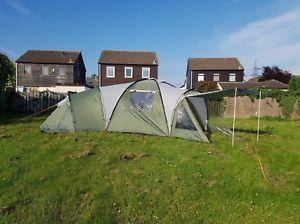 【送料無料】キャンプ用品 skandika korsika 103キャビン210cmピークドームテントskandika korsika 10 man dome tent with 3 sleeping cabins, 210 cm peak height