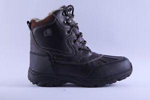 【送料無料】キャンプ用品 メンズカジュアルウォーキングブーツmens karrimor snow casual walking weathertite browm furry boots