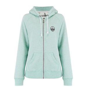 【送料無料】キャンプ用品 フルジップパーカーミスティミントグリーンマールanimal womens roo full zip hoodie misty mint green marl