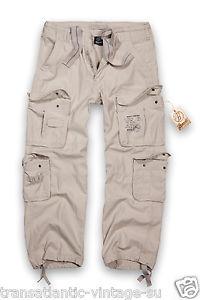 【送料無料】キャンプ用品 ヴィンテージカーゴパンツメンズアーミーズボンbrandit pure vintage cargo pants mens army workwear combat trousers stone