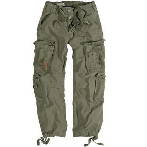 【送料無料】キャンプ用品 メンズズボンアーミーカーゴパンツビンテージオリーブsurplus mens combats trousers work wear army cargo pants vintage olive 3050