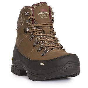 【送料無料】キャンプ用品 ウォーキングブーツミッドカットハイキングブーツtrespass kenter womens leather walking waterproof boots mid cut hiking boots