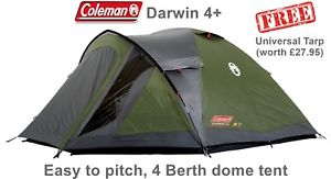 【送料無料】キャンプ用品 2795freeコールマンコールマンダーウィン4coleman darwin 4 with free coleman universal tarp worth 2795