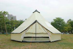 【送料無料】キャンプ用品 5mテントグラウンドシートテントベージュテント105m bell tent zippedinground sheet tent family 10 person camping tent beige
