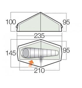 キャンプ用品 10f10ヘリウム1ulテントforce ten f10 helium 1 ul lightweight tent