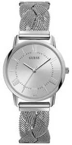 guess ladies silver braided mesh bracelet silver w1143l1 watch  19