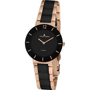 【送料無料】jacques lemans womens jl aktion 34mm rose gold ip bracelet quartz watch 423c