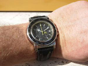【送料無料】rare breil manta diver chronograph quartz watch uhr montre reloj