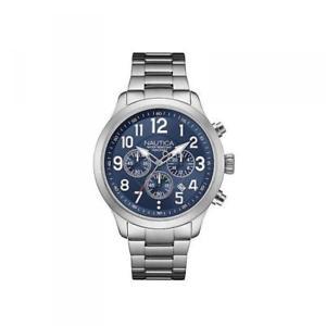 orologio uomo nautica ncc 01 nai16516g chrono bracciale acciaio blu 100mt