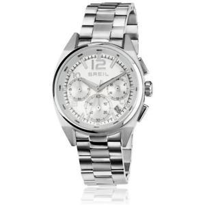 【送料無料】orologio donna breil master tw1410 bracciale acciaio chrono silver sub 100 mt
