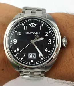 【送料無料】orologio philip watch saetta 8253104025 uomo corona a vite 44mm facile lettura